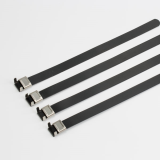 L Type PVC coated stainless steel cable tie